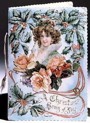 Christmas card, ca. 1880 Featured on the Minne...