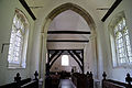 Church of St Andrew, Willingale, Essex, England - interior nave from chancel.JPG