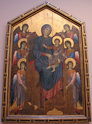 Cimabue: The Madonna and Child in Majesty Surrounded by Angels
