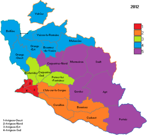 Vaucluse's 3rd constituency - Vaucluse's five constituencies in 2012