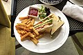 City Centre Club Sandwich for room service at Holiday Inn Qingdao City Centre (20191004082448).jpg