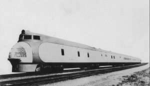 City of Portland (train) - City of Portland streamliner circa 1938 - 1941 (M-10002).