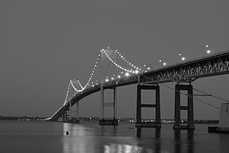 Claiborne Pell Newport Bridge - Image: Claiborne Pell Newport Bridge Twilight