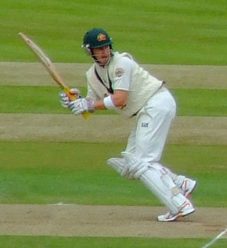 Michael Clarke (cricketer) - Clarke batting for Australia in 2009