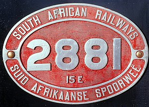 South African Class 15E 4-8-2 - Image: Class 15E no. 2881 ID