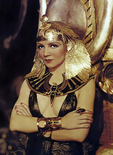 Colbert in the title role of Cleopatra, 1934 Cleopatra publicity photo.jpg