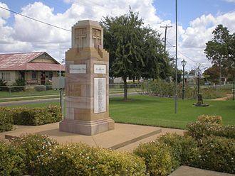 Clifton, Queensland - Clifton war memorial, 2008