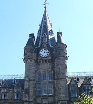 Royal Infirmary of Edinburgh - Clocktower of the old Royal Infirmary