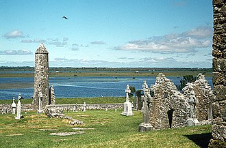 Culture of Ireland - The ruins of the ancient monastery at Clonmacnoise, County Offaly