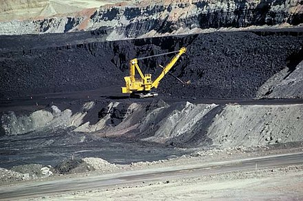 A coal mine in Wyoming, United States. The United States has the world's largest coal reserves. Coal mine Wyoming.jpg