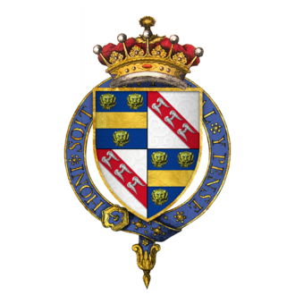 Earl of Pembroke - Image: Coat of Arms of Sir William de la Pole, 4th Earl of Suffolk, KG
