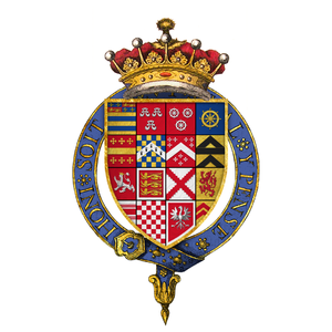 Francis Manners, 6th Earl of Rutland - Quartered arms of Sir Francis Manners, 6th Earl of Rutland, KG