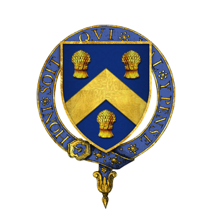 Christopher Hatton - Arms of Sir Christopher Hatton, KG