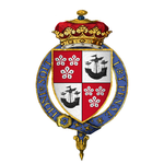 Coat of arms of Sir James Hamilton, 1st Duke of Hamilton, KG.png