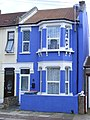 Cobalt blue Victorian terraced house, Plaistow, E13.jpg