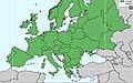 Coenagrion puella - rasprostranjenje u Evropi.jpg