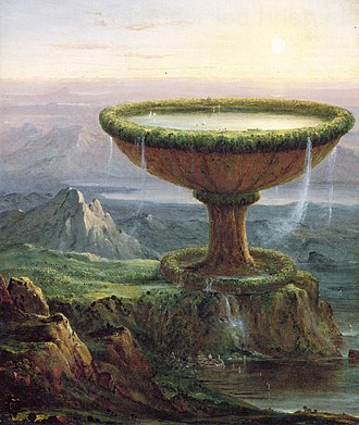 Thomas Cole - The Titan's Goblet (1833). Oil on canvas; 49 × 41 cm. The Metropolitan Museum of Art, New York.