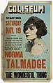 Coliseum Theatre film poster, Seattle, November 19-25, 1921 (MOHAI 13578).jpg