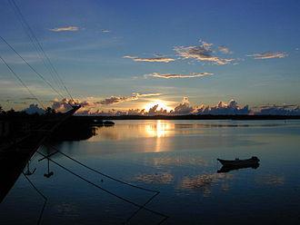 Caroline Islands - Sunset at Colonia on Yap