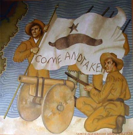 October 2: Start of the Texas Revolution. Come And Take It Mural.jpg