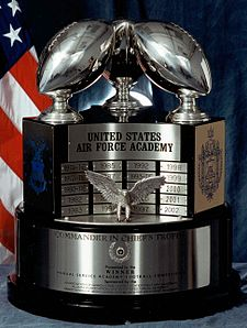 The trophy, showing the Air Force Side