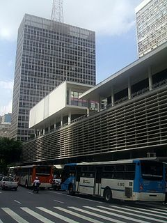 commercial centre and residential building at Paulista Avenue