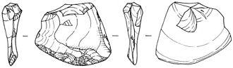 Scraper (archaeology) - Convex transverse scraper