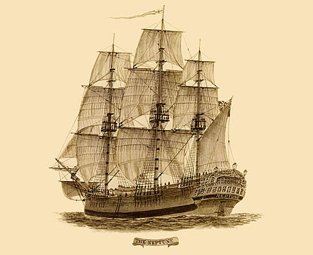 Neptune, a 19th-century convict ship that brought prisoners to Australia