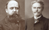 Edward Drinker Cope (left) and Othniel Charles Marsh (right).