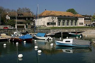 Coppet Place in Vaud, Switzerland