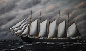 Cora F. Cressey - Painting of the Cora F. Cressey by Solon Badger