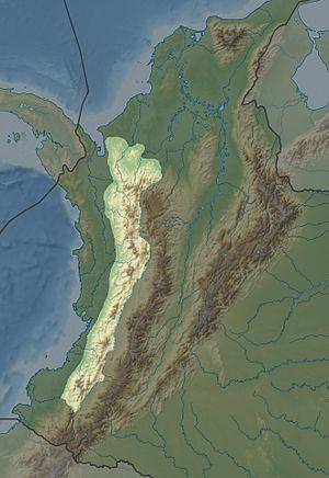 Cordillera Occidental (Colombia) - Image: Cordillera Occidentale de Colombia