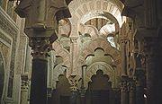 Interior de la Mezquita-Catedral de Córdoba.