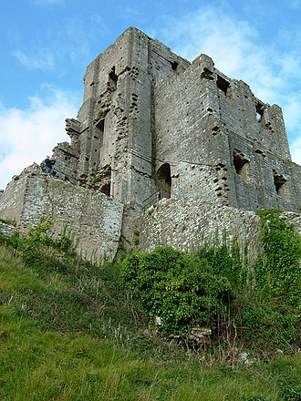 Edward the Martyr - Corfe Castle from below