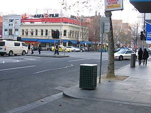 Lonsdale Street, Melbourne - Corner of Russell and Lonsdale Street looking south west