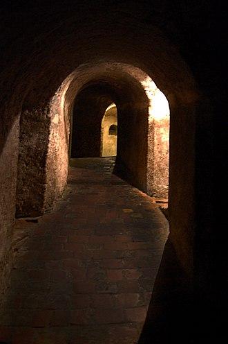 Castillo San Felipe de Barajas - Internal corridors of the castle.