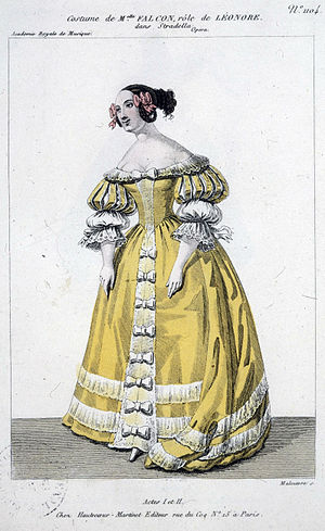 Stradella (Niedermeyer) - Costume design for Cornélie Falcon in Acts I and II