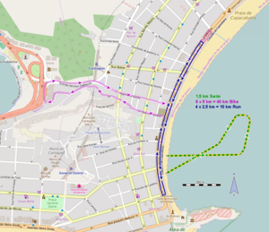 Triathlon at the 2016 Summer Olympics - Course Map