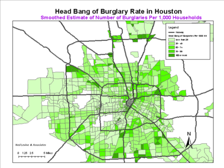 Crime Rate Houston Map.Crimestat Wikipedia