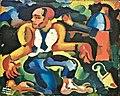 """Crime Abysmo Azul Remorso Phisico (""""Crime Blue Abyss Physical Remorse"""") (1914-1915) - Amadeo Souza-Cardoso (1887-1918) (32850202421).jpg"""