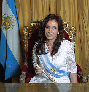 English: Cristina Fernández de Kirchner, Presi...