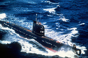 Foxtrot-class submarine - Image: Cuban Foxtrot submarine