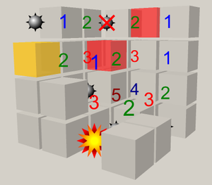 Minesweeper (video game) - Image: Cube Minesweeper 3D