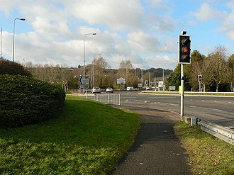 Culverhouse Cross - Roundabout junction where the A48 and A4232 join Culverhouse Cross.
