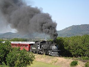 National Register of Historic Places listings in Conejos County, Colorado - Image: Cumbres and Toltec Scenic Railroad train 2