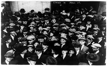 Curb Brokers In Wall Street In 1920, A Year Before Much Of The Trading Was  Moved Into An Dedicated Exchange Building. That Year, Journalist Edwin C.  Hill ...