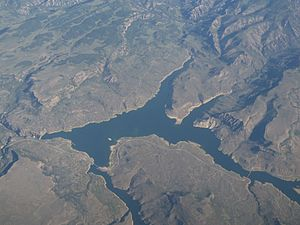 Curecanti National Recreation Area - Blue Mesa Reservoir from the air.
