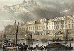Robert Smirke (architect) - , The Thames front of the London Custom House