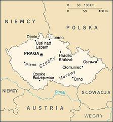 Mapa Czech