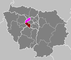 Location of Nanterre in Île-de-France